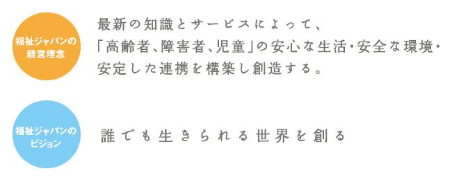 福祉ジャパンの経営理念とビジョン